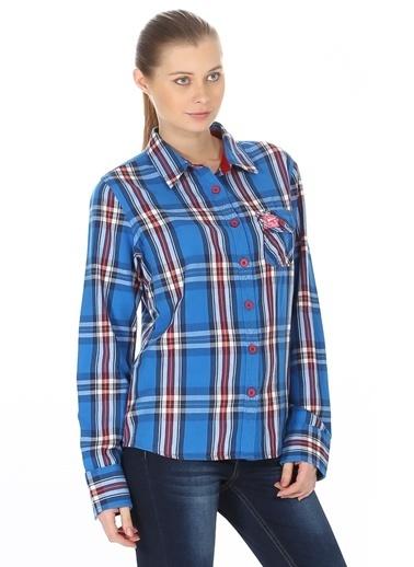 T-Box Kareli Gömlek Mavi